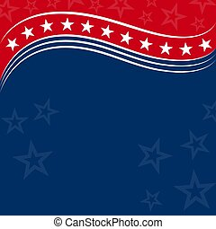 Abstract american flag background frame card