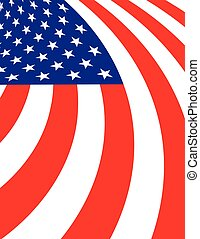 Abstract American Flag Background Illustration