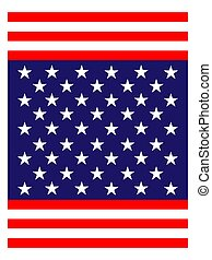 Abstract American flag banner background