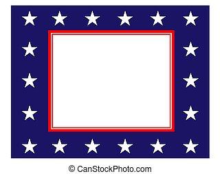 Abstract American flag border