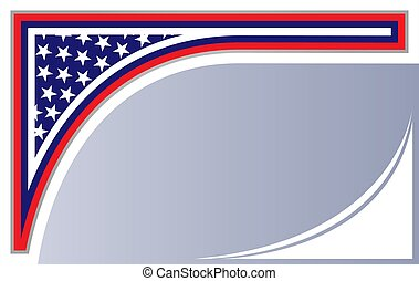 abstract american flag corner background