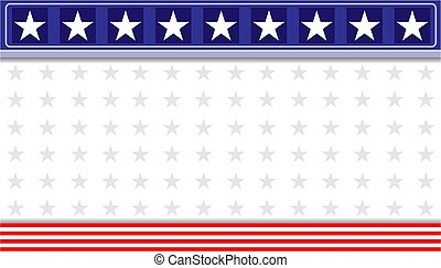 Abstract American flag decoration banner background.