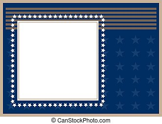 Abstract American flag frame card