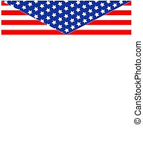 Abstract American flag Patriotic frame.