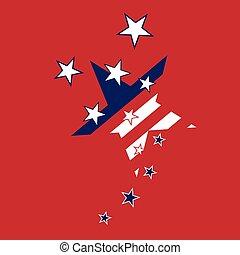 abstract american flag stars