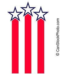 Abstract American flag symbol logo