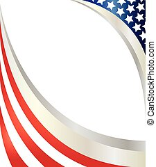 Abstract American flag.