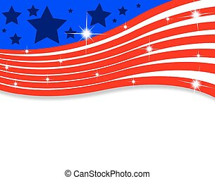 Abstract American flag with lines