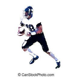 Abstract american football player silhouette, geometric athlete