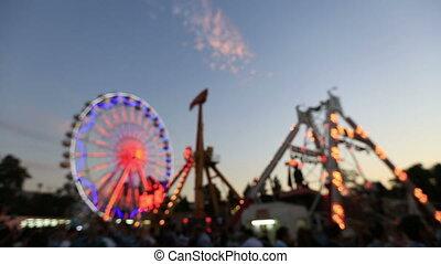 amusement park - abstract amusement park light