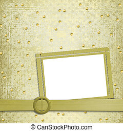 Abstract ancient background in scrapbooking style with gold ...