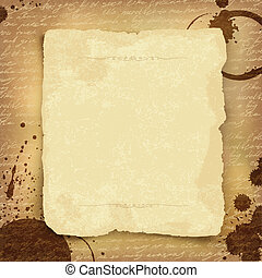 Abstract ancient manuscript background with space for text. Vector, EPS10