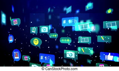 """Abstract and Funny Social Media Bubbles"" - ""An optimistic..."