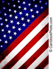 Abstract Angled US Flag - Illustrated angled flag of the...