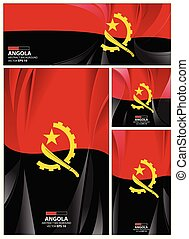 Angola flag abstract colors background. Collection banner design. brochure vector illustration.