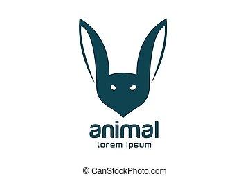 Abstract animal face logo vector template