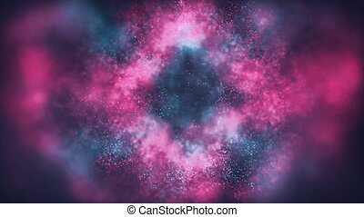 abstract animated background of bursting particles
