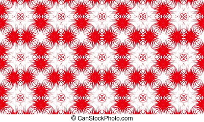 Abstract animated background of red. 3d render