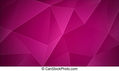 Abstract animated background triangular