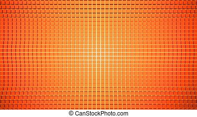 Abstract animated background with cubes. 3D rendered
