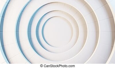 Abstract animated background with moving circles