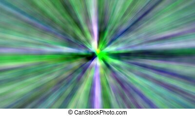 Abstract animated colorful blue and green Lines Streaks Burst motion background.