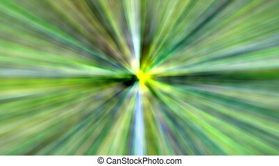 Abstract animated green motion background of spinning lines.