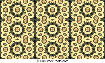 Abstract animated kaleidoscope motion background. Sequence...
