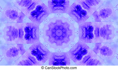 Abstract animated kaleidoscope motion background. Spreading...