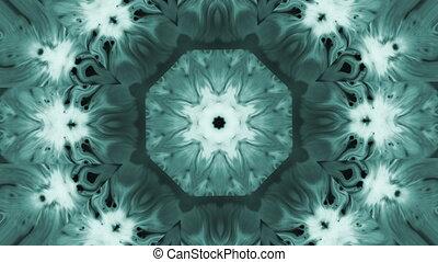 Abstract animated kaleidoscope motion background. Spreading...