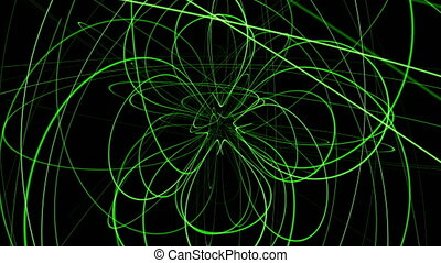 abstract, animation achtergrond, met, lijnen, bol