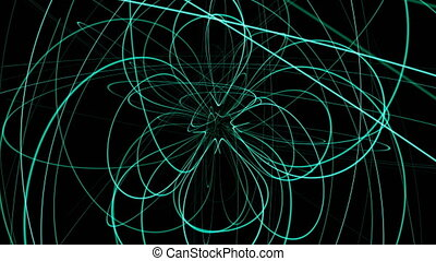 Abstract animation background with lines sphere