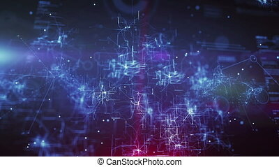 """""""Abstract Animation CPU in Blue Backdrop"""""""