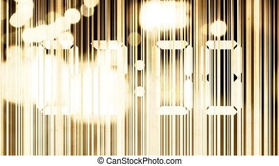 Abstract animation, graphic lines and light flashes with...