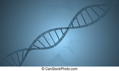 Abstract animation of DNA and plexus. Loop animation