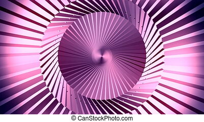 Abstract animation of lines in a cylinder. Motion background.