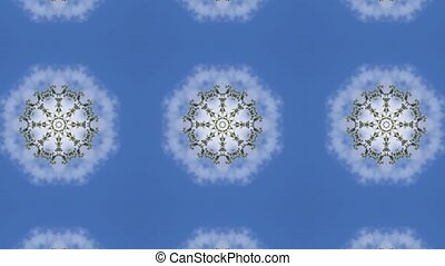 Abstract animation with hand drawn geometric kaleidoscope...