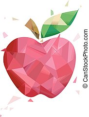 Abstract Apple Geometric Design