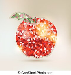 Abstract Apple with geometric eleme