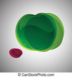 Abstract apple.Vector background .