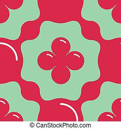 Aqua Floral Seamless Pattern