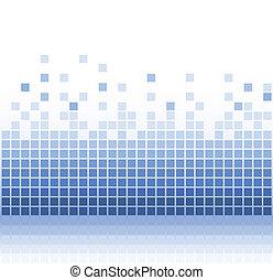 abstract aqua square pixel mosaic