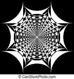 Abstract Arabesque Fountain Fan Spider Net Negative Space Design