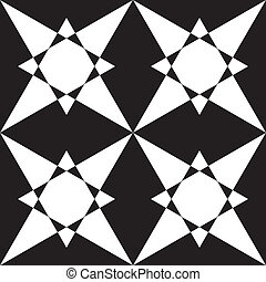 Abstract arabesque four stars background
