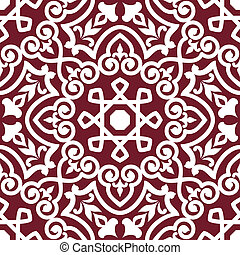 Abstract arabic or persian seamless ornament