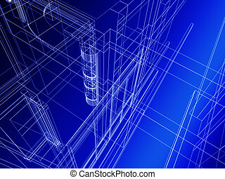 Abstract architectural construction - Abstract architectural...