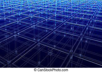 abstract architectural surface - Abstract infinite blue...