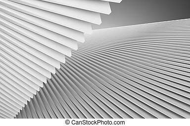 abstract architecture background. 3d illustration