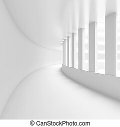 Abstract Architecture Background - 3d Illustration of White...