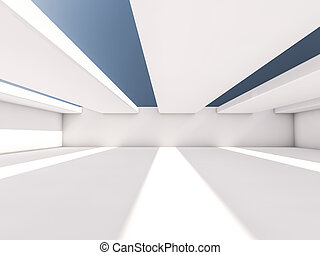 Abstract architecture interior background. 3D